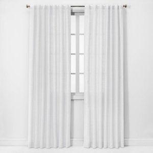 Threshold Linen Light Filtering Curtain Panels